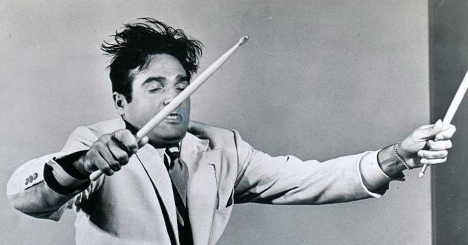 Gene Krupa, jazz drummer.